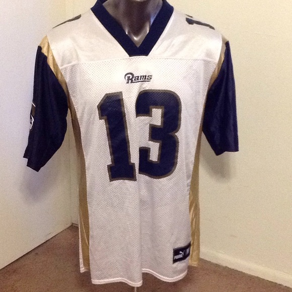 low cost b566c 28634 Men's St. Louis Rams Kurt Warner jersey size M